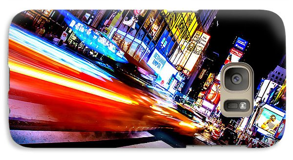 Taxis In Times Square Galaxy S7 Case by Az Jackson