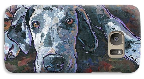Galaxy Case featuring the painting Taylor by Nadi Spencer