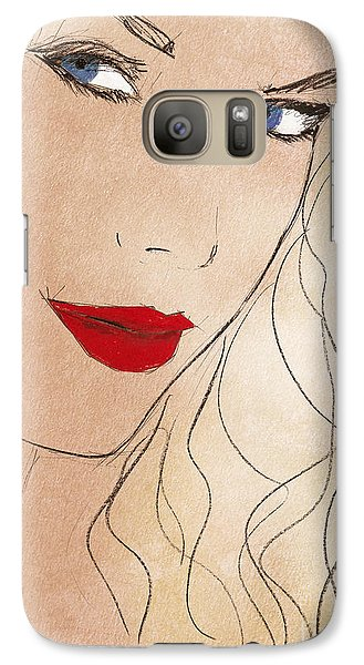 Taylor Red Lips Galaxy S7 Case by Pablo Franchi