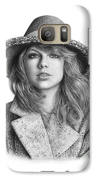 Taylor Swift Portrait Drawing Galaxy S7 Case by Shierly Lin