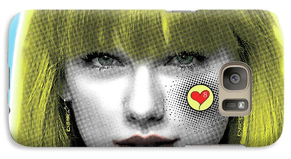 Taylor Swift, Pop Art, Portrait, Contemporary Art On Canvas, Famous Celebrities Galaxy S7 Case by Dr Eight Love