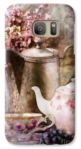 Galaxy Case featuring the painting Tea And Grapes by Mo T
