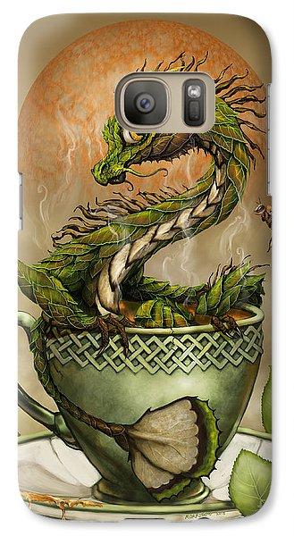 Galaxy Case featuring the digital art Tea Dragon by Stanley Morrison