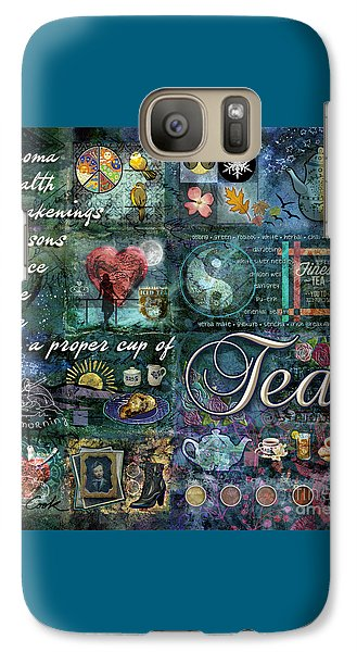 Galaxy Case featuring the digital art Tea by Evie Cook