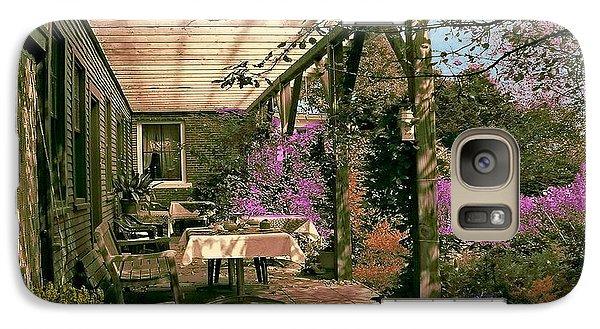 Galaxy Case featuring the digital art Tea Garden by John Selmer Sr
