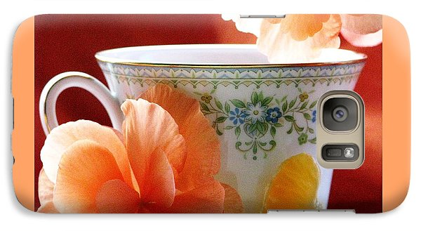 Galaxy Case featuring the photograph Tea In The Garden by Angela Davies