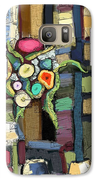 Galaxy Case featuring the painting Tea Time by Carrie Joy Byrnes