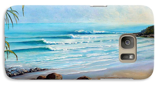 Galaxy Case featuring the painting Tea Tree Bay Noosa Heads Australia by Chris Hobel