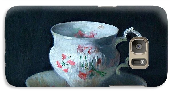Teacup And Saucer On Dark Background Galaxy S7 Case