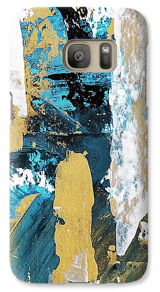 Galaxy Case featuring the painting Teal Abstract by Christina Rollo