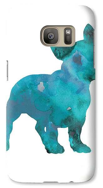 Teal Frenchie Abstract Painting Galaxy S7 Case