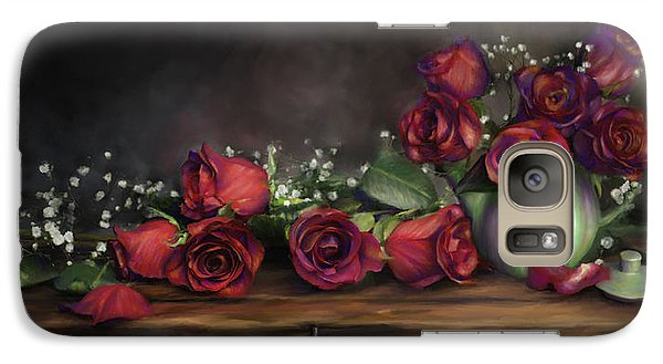 Galaxy Case featuring the digital art Teapot Roses by Susan Kinney