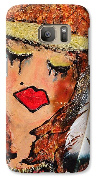 Galaxy Case featuring the painting Tears Of Suffering by Laura  Grisham