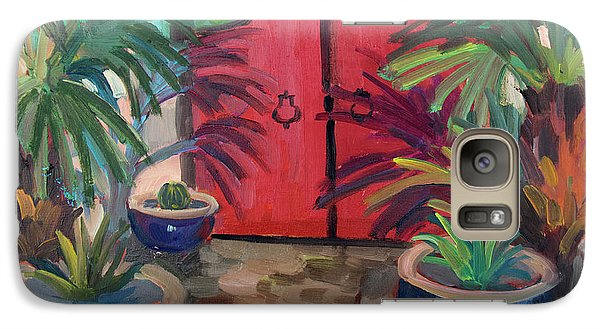 Galaxy Case featuring the painting Tecate Garden Gate by Diane McClary
