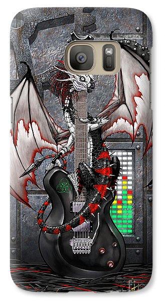 Galaxy Case featuring the digital art Tech-n-dustrial Music Dragon by Stanley Morrison