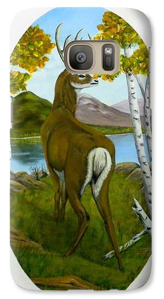Galaxy Case featuring the painting Teddy's Deer by Sheri Keith