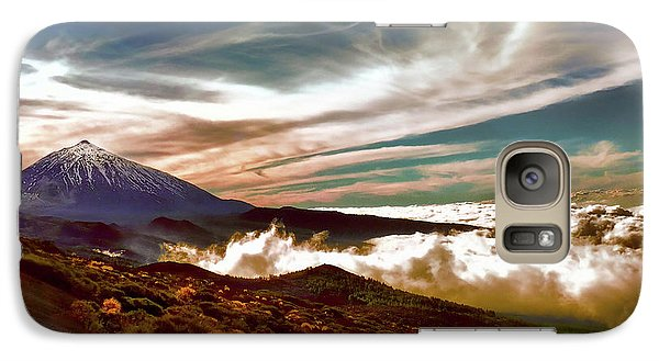 Teide Volcano - Rolling Sea Of Clouds At Sunset Galaxy S7 Case