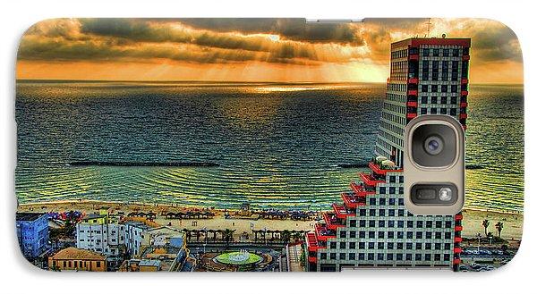 Galaxy Case featuring the photograph Tel Aviv Lego by Ron Shoshani