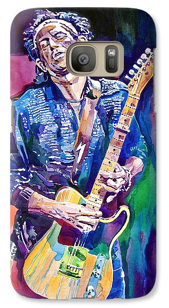 Music Galaxy S7 Case - Telecaster- Keith Richards by David Lloyd Glover