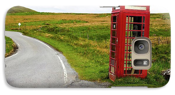 Galaxy Case featuring the photograph Telephone Booth On Isle Of Skye by Davorin Mance