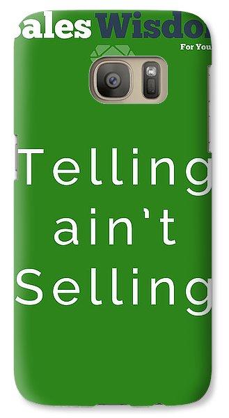 Galaxy Case featuring the digital art Telling Ain't Selling by Ike Krieger