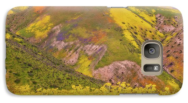 Galaxy Case featuring the photograph Temblor Range Color by Marc Crumpler
