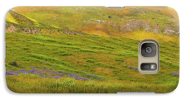 Galaxy Case featuring the photograph Temblor Range Spring Color by Marc Crumpler
