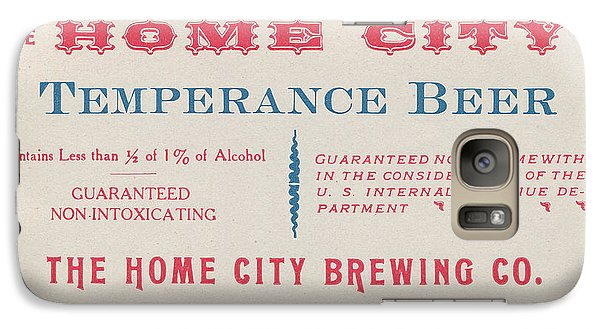 Galaxy Case featuring the photograph Temperance Beer Label by Tom Mc Nemar