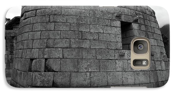 Galaxy Case featuring the photograph Temple Of The Sun, Machu Picchu, Peru by Aidan Moran