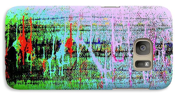 Galaxy Case featuring the painting Ten On The Richter by Roberto Prusso