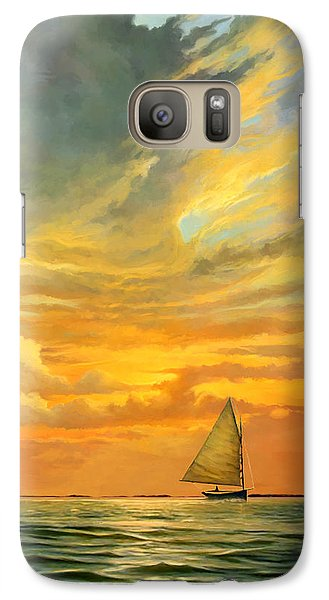 Galaxy Case featuring the painting Ten Thousand Islands by David  Van Hulst