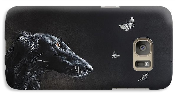 Galaxy Case featuring the drawing Tender Is The Night by Elena Kolotusha