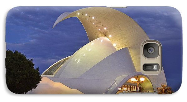Galaxy Case featuring the photograph Tenerife Auditorium At Dusk by Marek Stepan