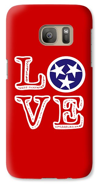 Galaxy Case featuring the digital art Tennessee Flag Love by Heather Applegate