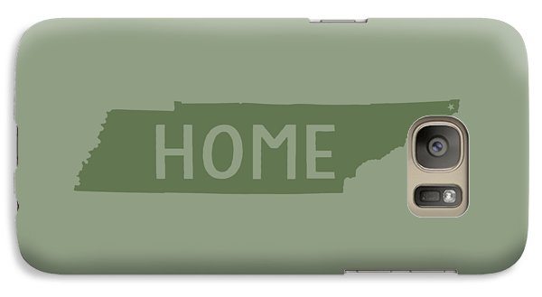 Galaxy Case featuring the digital art Tennessee Home Green by Heather Applegate