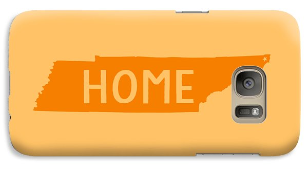 Galaxy Case featuring the digital art Tennessee Home Orange by Heather Applegate