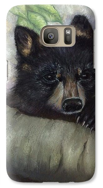 Galaxy Case featuring the painting Tennessee Wildlife Black Bear by Annamarie Sidella-Felts