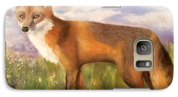Galaxy Case featuring the painting Tennessee Wildlife Red Fox by Annamarie Sidella-Felts