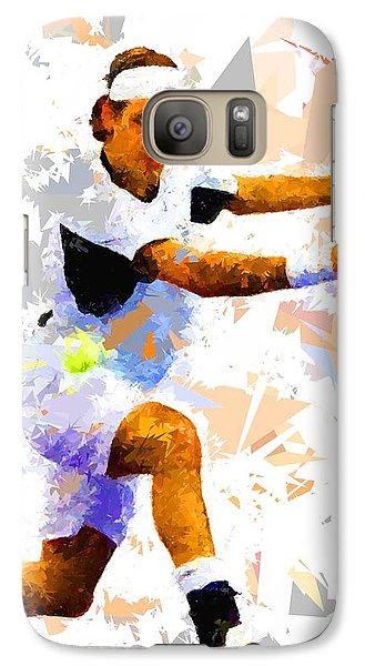 Galaxy Case featuring the painting Tennis 114 by Movie Poster Prints
