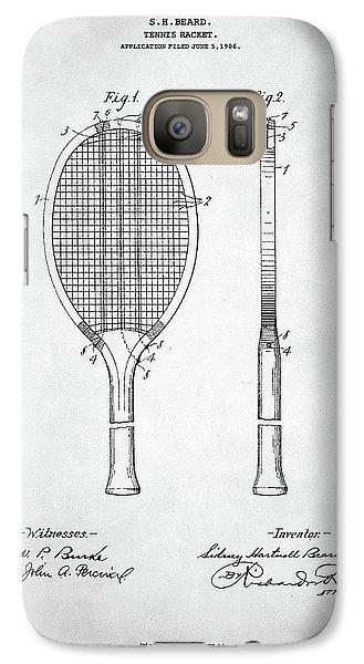 Serena Williams Galaxy S7 Case - Tennis Racket Patent 1907 by Zapista