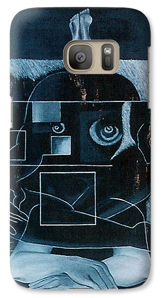 Galaxy Case featuring the painting Tense Leisure by Fei A