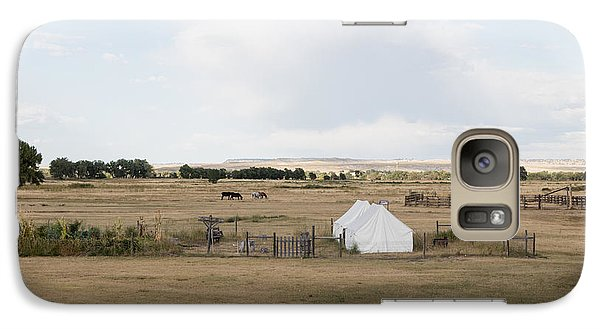 Galaxy Case featuring the photograph Tents At Fort Laramie National Historic Site In Goshen County by Carol M Highsmith