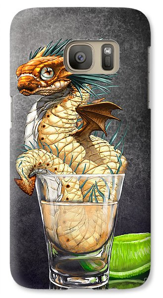 Galaxy Case featuring the digital art Tequila Wyrm by Stanley Morrison