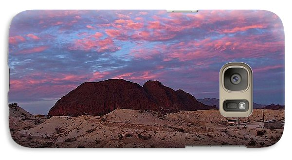Galaxy Case featuring the painting Terlingua Sunset by Dennis Ciscel