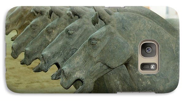 Galaxy Case featuring the photograph Terra Cotta Horses by R Thomas Berner