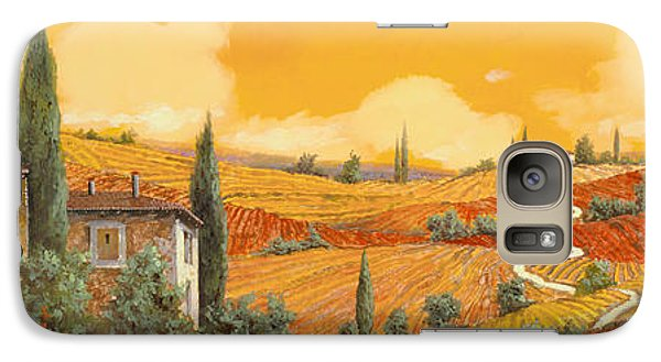 Sunflower Galaxy S7 Case - terra di Siena by Guido Borelli