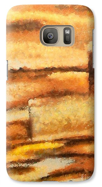Galaxy Case featuring the mixed media Terra Rossa by Dragica  Micki Fortuna