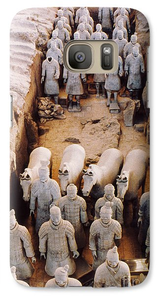 Galaxy Case featuring the photograph Terracotta Army by Heiko Koehrer-Wagner