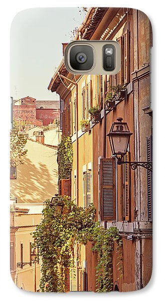 Galaxy Case featuring the photograph Terracotta - Rome Italy Travel Photography by Melanie Alexandra Price