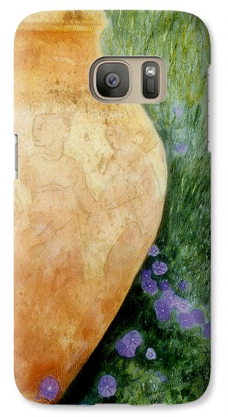 Galaxy Case featuring the mixed media Terracotta Urn by Jan Amiss